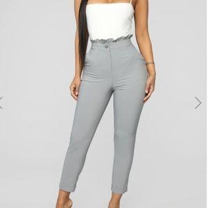 Fashion nova grey dress pants